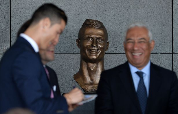 The bust of Ronaldo at Madeira airport did not go down well and was quickly replaced