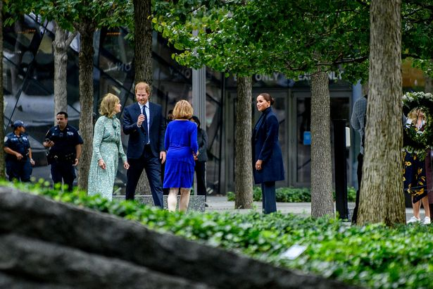 Meghan Markle and Prince Harry visit the 9/11 memorial