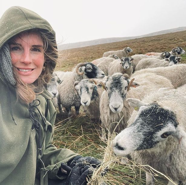 Amanda Owen lives on a 2,000 acre farm with her husband Clive and nine children