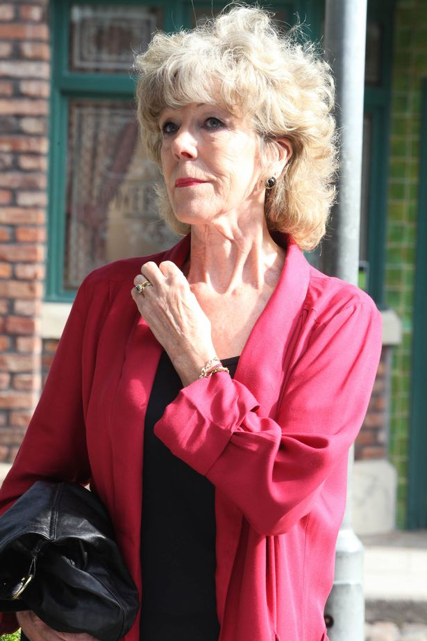 After being asked by Lewis to runaway with him from Weatherfield, Audrey Roberts has a wistful look at the salon.