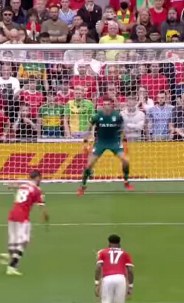 Bruno Fernandes put the penalty well over the crossbar