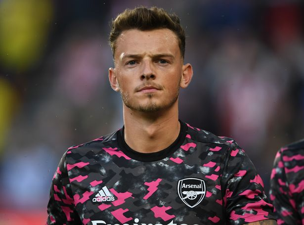 BRENTFORD, ENGLAND - AUGUST 13: Ben White of Arsenal before the Premier League match between Brentford and Arsenal at Brentford Community Stadium on August 13, 2021 in Brentford, England. (Photo by Stuart MacFarlane/Arsenal FC via Getty Images)