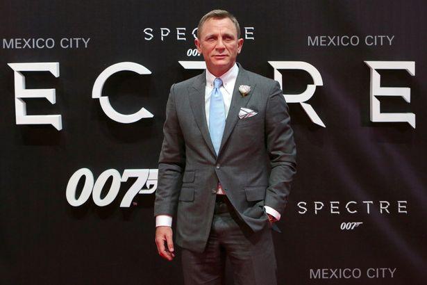 Daniel Craig as James Bond for film Spectre