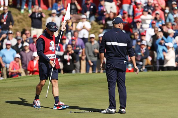 Bryson DeChambeau was annoyed at being asked to hole a short putt on Saturday