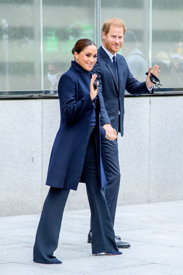 Prince Harry also wore a full suit on the New York trip despite the warm weather