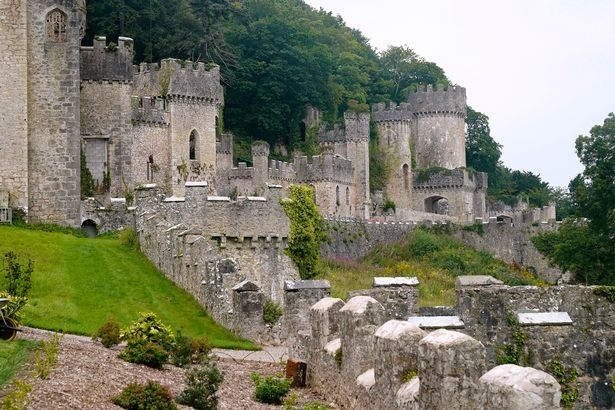 Amongst the ghosts supposedly haunting the Welsh castle is a scary floating lady called Countess Winifred