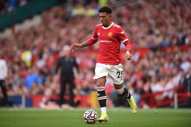 Jadon Sancho in action for Man Utd