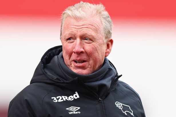 Steve McClaren the technical director of Derby County during the Sky Bet Championship match between Stoke City and Derby County at Bet365 Stadium on March 20, 2021 in Stoke on Trent, England.