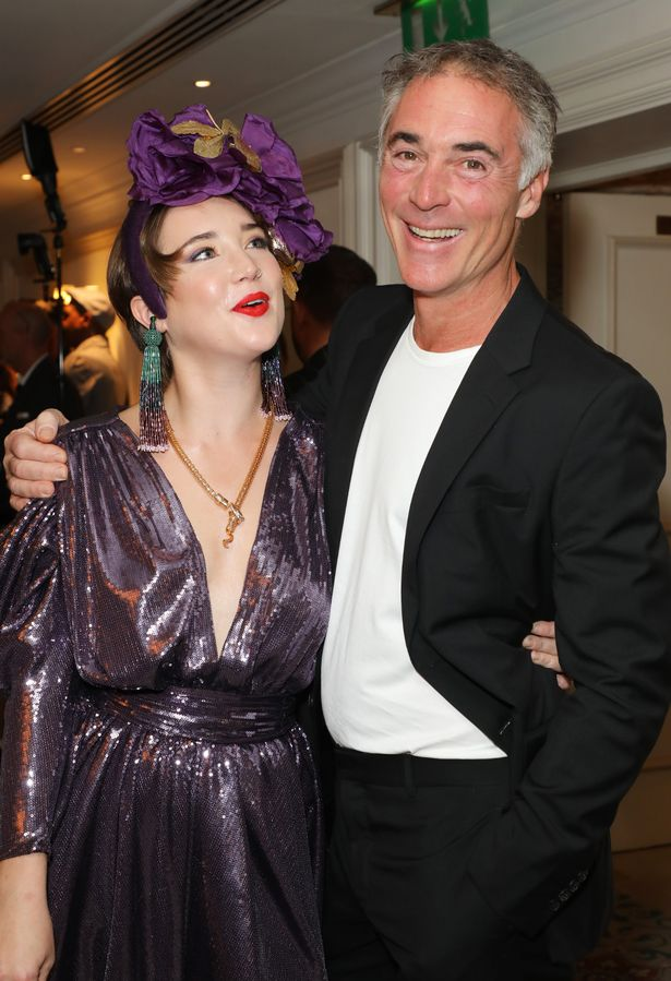 Greg Wise showed his support for his daughter at the Icon Ball 2021 after she made her modelling debut