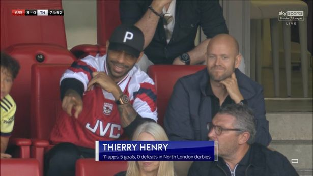 Daniel Ek spotted with Thierry Henry at Arsenal vs Tottenham