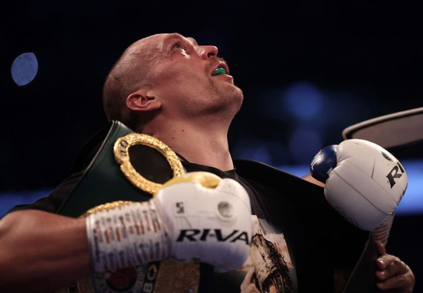 Oleksandr Usyk of Ukraine after defeating Anthony Joshua of Great Britain during the Heavyweight Title Fight between Anthony Joshua and Oleksandr Usyk at Tottenham Hotspur Stadium on September 25, 2021 in London, England.