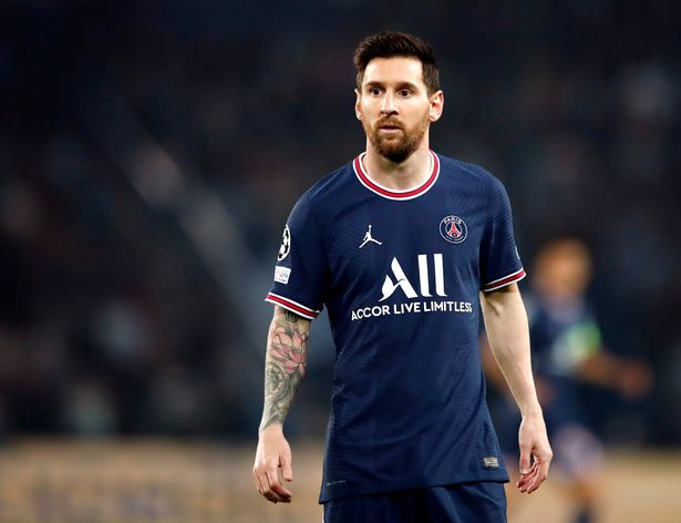 Lionel Messi looks on while playing in the Champions League