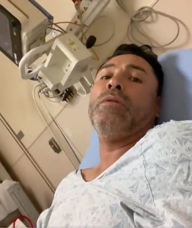 In September, De La Hoya announced from his hospital bed that he'd tested positive for Covid-19