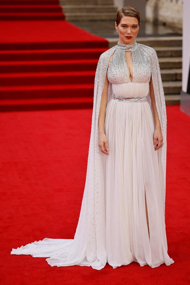 French actress Lea Seydoux reprises her role as Madeleine in the new action flick. The star stunned in an elegant floor-length gown with a dramatic cape