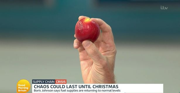 """Alastair's """"Brexit apple"""" made another appearance of Wednesday's programme"""