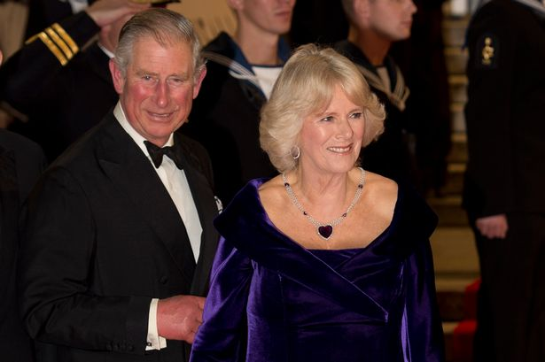 Britain's Prince Charles, Prince of Wales (L) and Camila, Duchess of Cornwall (R), arrive to attend the royal world premiere of the new James Bond film 'Skyfall' at the Royal Albert Hall in London on October 23, 2012.