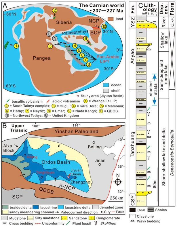 Volcanic explosions wiped out animals on Earth and fuelled rise of dinosaurs, study shows