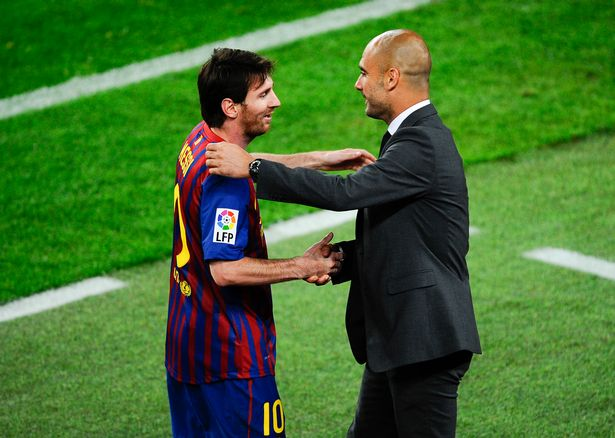 Messi and Guardiola spent four highly successful years together at Barcelona