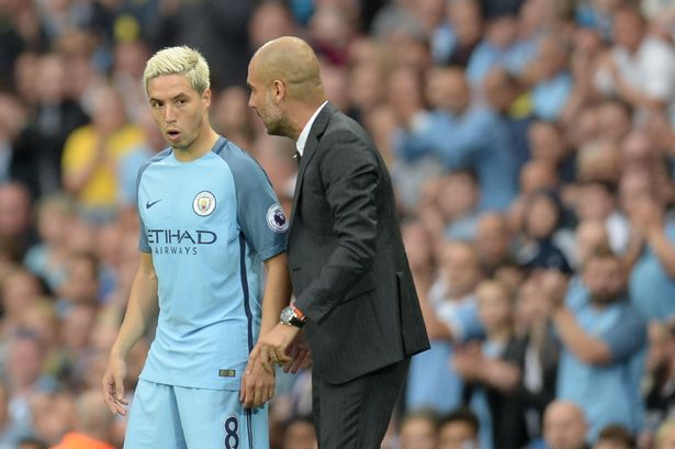 Samir Nasri has revealed Guardiola used Messi to make a point in one of his City team-talks