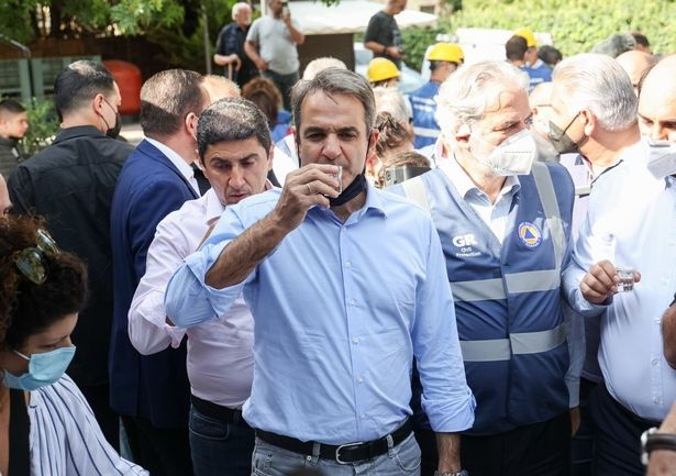 Greece's PM Kyriakos Mitsotakis visited the island on Tuesday and promised aid