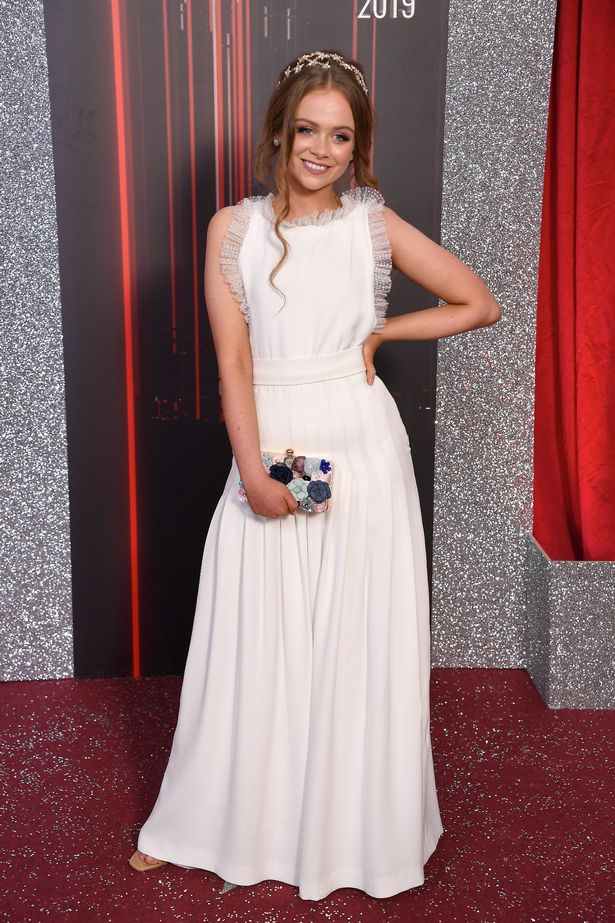 Niamh Blackshaw attends the British Soap Awards at The Lowry Theatre