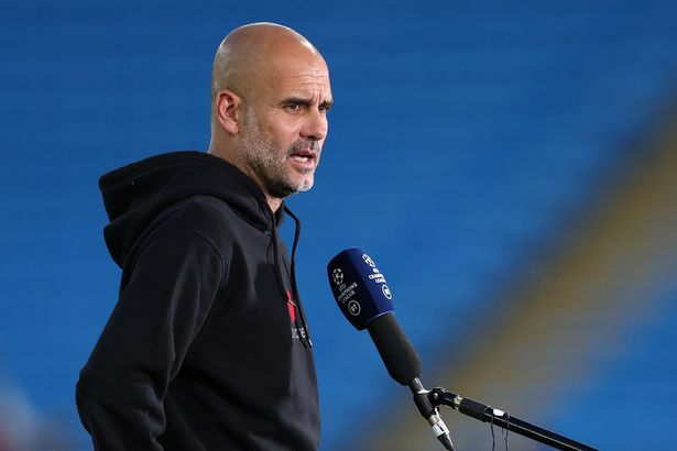 Pep Guardiola called for more fans to attend matches after Man City's Champions League win over RB Leipzig