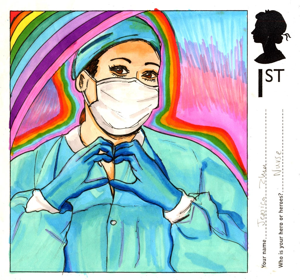 600,000 children submit entries to stamp design contest hailing pandemic heroes