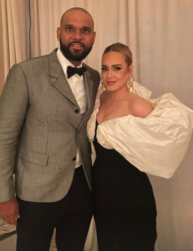 Adele was glowing in a photo next to Jared Dudley