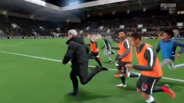 The clip of Steve Bruce charging onto the pitch on FIFA 22 has gone viral