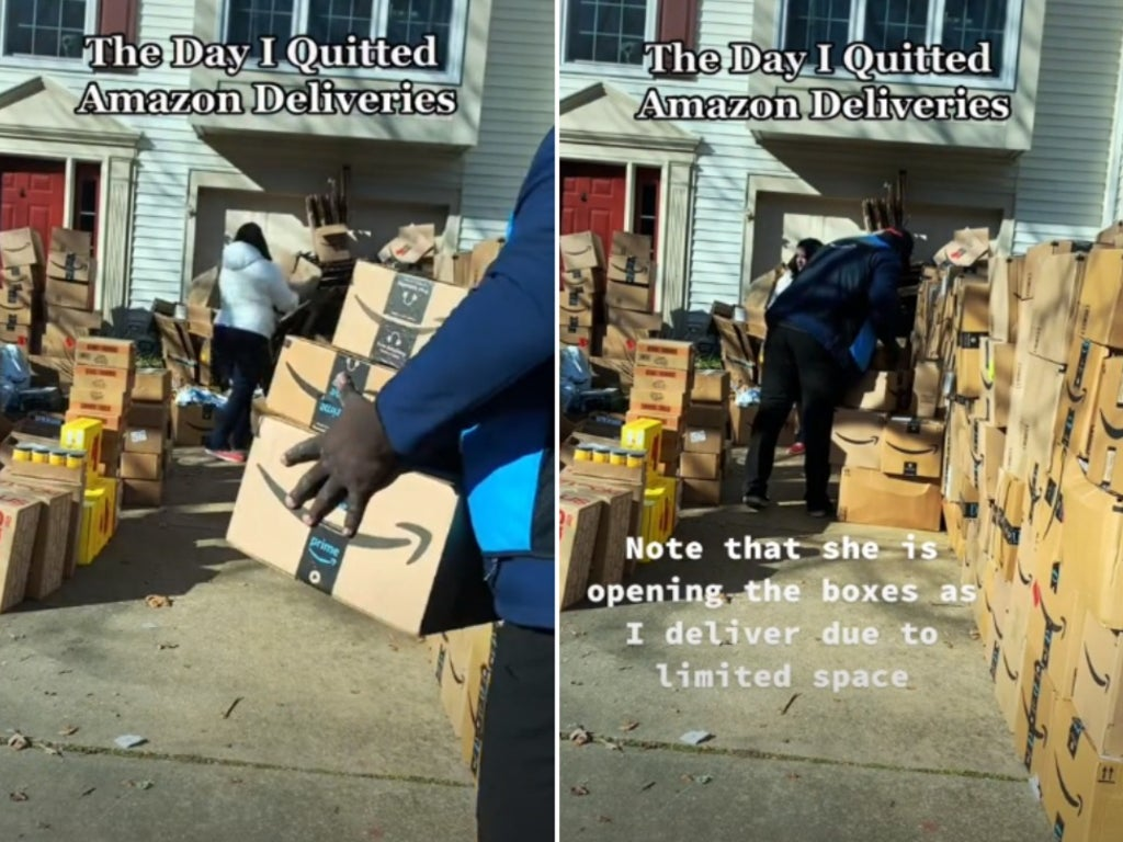 Amazon worker films delivery task that made him reach breaking point and quit