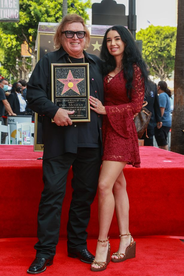 Paris Dylan joined the America Pie star Don McLean as he was honored with a Star on the Hollywood Walk of Fame last month