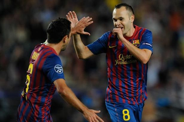 Xavi and Iniesta were partners in crime at Barcelona