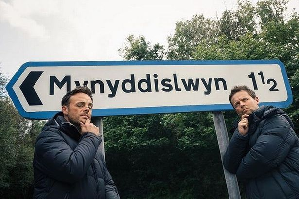 Ant and Dec have dropped a teaser for upcoming I'm a Celeb series with a snap beside the sign for Mynyddislwyn