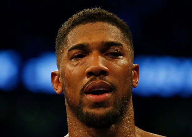 Anthony Joshua's right eye caused the fighter severe problems from the ninth round onwards