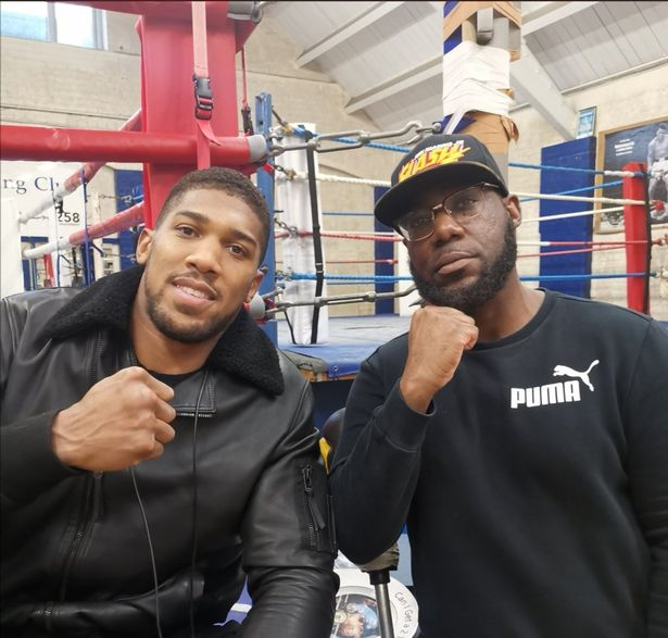 Anthony Joshua and Frank Beccles