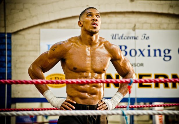 Anthony Joshua, British boxer, at Finchley Boxing Club, 23rd October 2013
