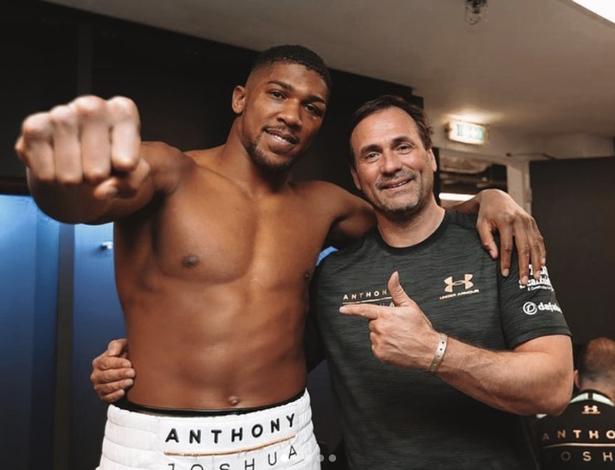 Anthony Joshua and Tony Sims