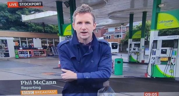 BBC reporter Phil McCann went viral after petrol station story with 'perfect name'