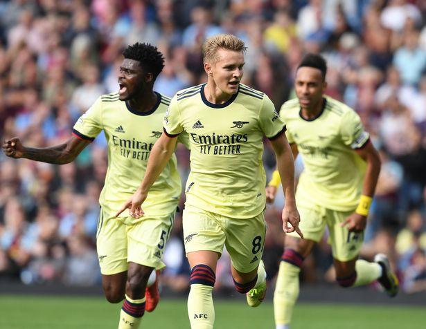 Martin Odegaard grabbed a stunning goal as Arsenal beat Burnley