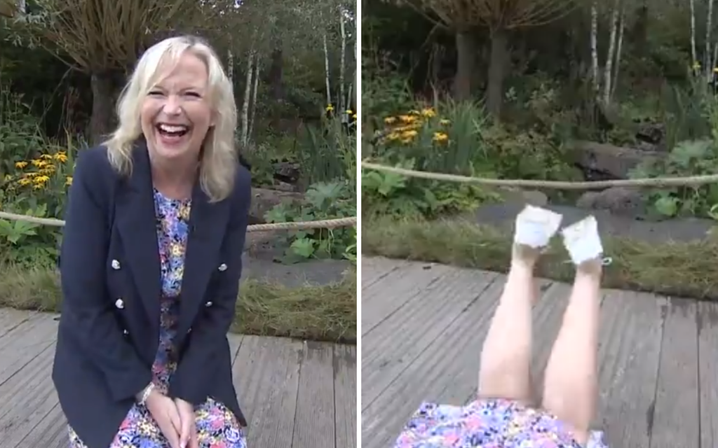 BBC Breakfast presenter gets taken out by guide dog in hilarious live TV blunder
