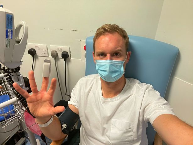 Strictly Come Dancing star Dan Walker has revealed he was rushed to hospital after 'whacking his noggin'
