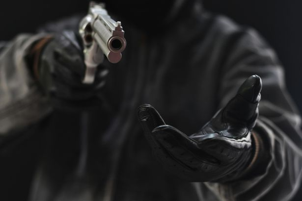 Robber stock image