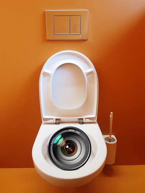 Toilet with camera