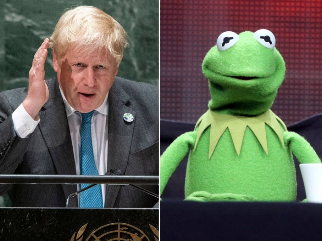 Boris Johnson accuses Kermit the Frog of being 'wrong' in climate speech at UN