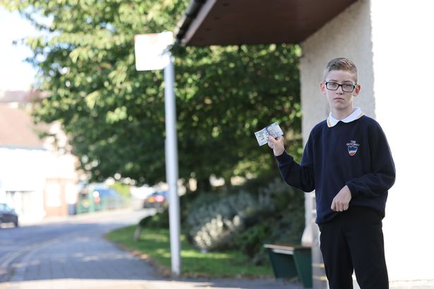 Ashton walked the two mile journey to school, which involved him crossing the Conwy bridge and busy roads from Llandudno Junction