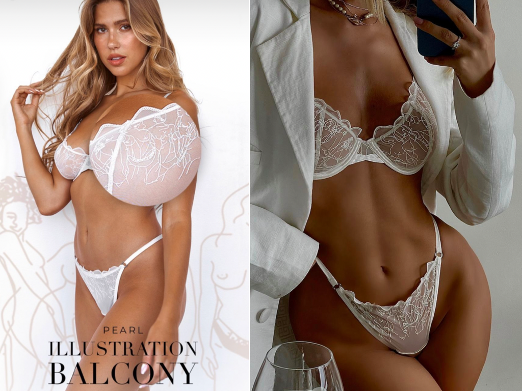Bra advert photoshop blunder leaves model with gigantic lopsided breast