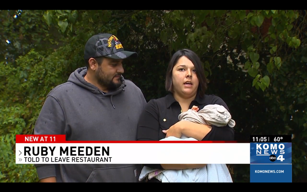 Breastfeeding mother and newborn allegedly kicked out of restaurant