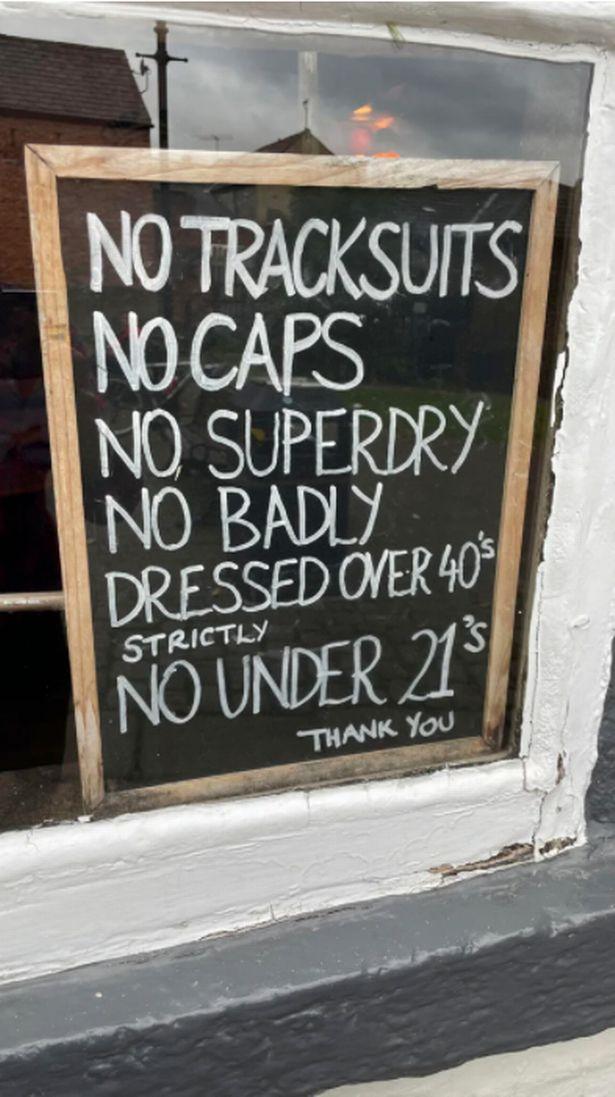 pub sign on chalk board