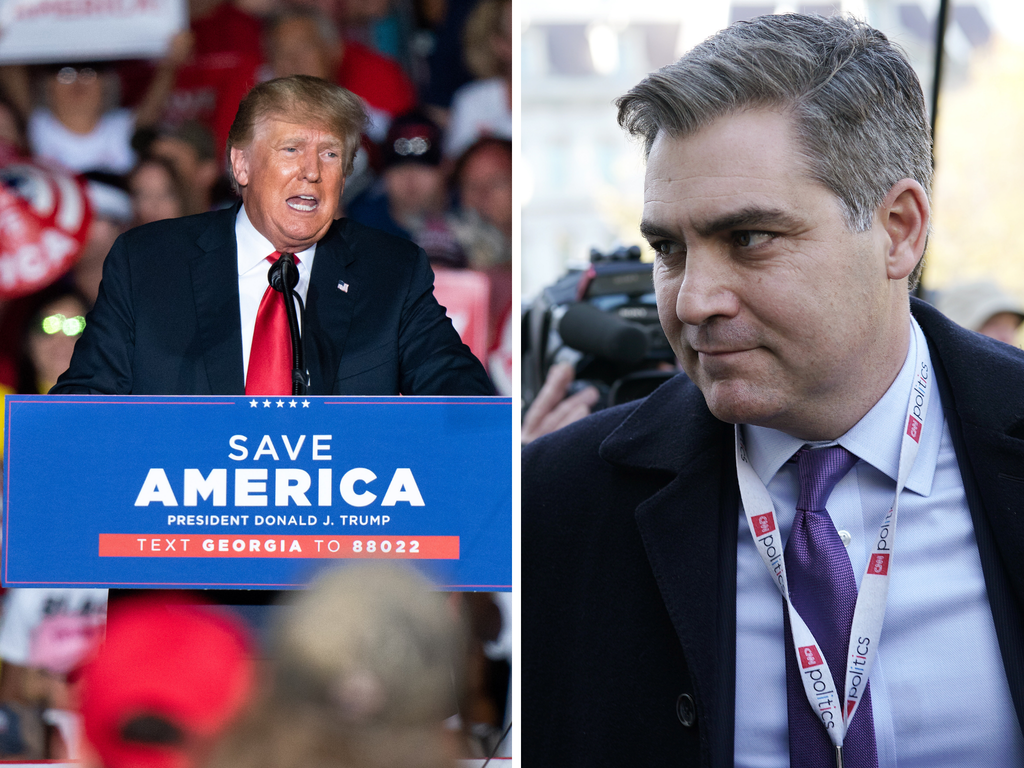 CNN host Jim Acosta brands Trump an 'exiled Twitter junkie' as he rips into ex-president's Georgia rally