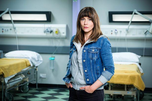 Elinor Lawless as Stevie in Casualty